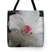 White Rhododendron Blossom Tote Bag