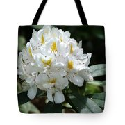 White Rhododendron Tote Bag