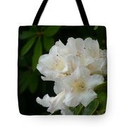 White Rhododendron With Tears Tote Bag