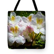 White Rhododendron In Sunlight Tote Bag