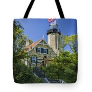 White River Lighthouse In Whitehall Michigan No.057 Tote Bag