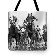 White River With Jockey Tommy Barrow Tote Bag