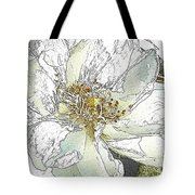 White Rose Abstract Tote Bag