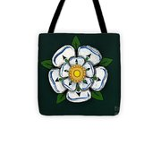 White Rose Of York Tote Bag