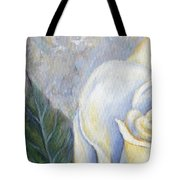 White Rose One Panel One Of Four Tote Bag