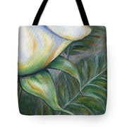 White Rose One Panel Four Of Four Tote Bag