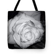 White Rose Passion Impression Tote Bag