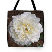 White Rose Square Tote Bag
