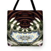 White Roses And Babys Breath Polar Coordinates Effect Tote Bag
