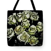 White Roses - Moving On Tote Bag