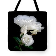 White Roses In The Moonlight Tote Bag