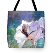 White Roses In The Shade Tote Bag