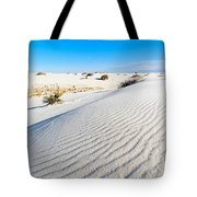 White Sands - Morning View White Sands National Monument In New Mexico. Tote Bag