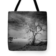 White Sands National Monument 1 Dark Mono Tote Bag