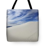 White Sands National Monument Big Dune Tote Bag by Bob Christopher
