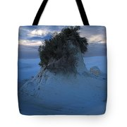 White Sands Turns Blue Tote Bag