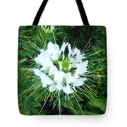 White Satellite Tote Bag