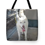 White Siberian Husky Standing Tote Bag