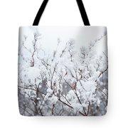White Silence Tote Bag