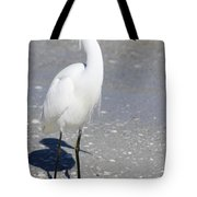 White Silky Feathers Tote Bag