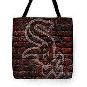 White Sox Baseball Graffiti On Brick  Tote Bag by Movie Poster Prints