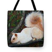 White Squirrel Of Sooke Tote Bag