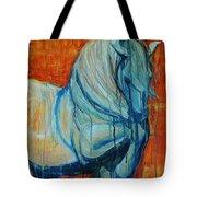 White Stallion Tote Bag by Jani Freimann
