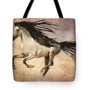 White Stallion Running Free  Tote Bag
