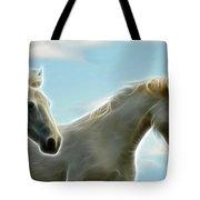 White Stallions Tote Bag