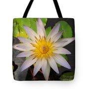 White Star Lotus Tote Bag