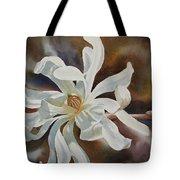 White Star Magnolia Blossom Tote Bag