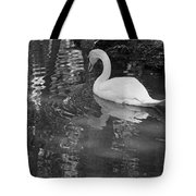 White Swan In Black And White II Tote Bag