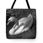 White Swan In Black And White Tote Bag