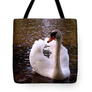 White Swan Tote Bag by Rona Black