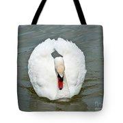 White Swan Swimming Tote Bag