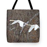 White Swans In Flight 1589 Tote Bag