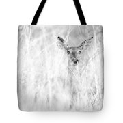 White-tail Doe High Key Tote Bag