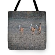 White Tailed Deer Running Tote Bag