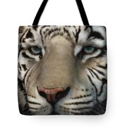 White Tiger - Up Close And Personal Tote Bag