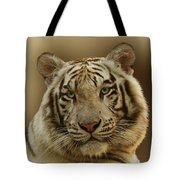 White Tiger II Tote Bag