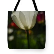 White Tulip Tote Bag