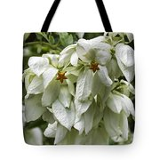 White Veil Of Tropical Flowers Tote Bag