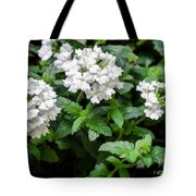White Verbena Art Tote Bag