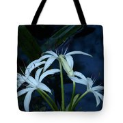 White Water Flower Tote Bag
