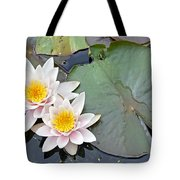 White Water Lilies Netherlands Tote Bag by Jelger Herder