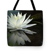 White Water Lily Reflections Tote Bag