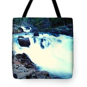 White Water On The Ohanapecosh River  Tote Bag