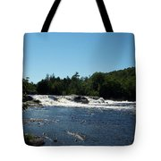 White Water On The West Branch Tote Bag