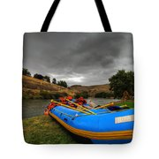 White Water Rafting Boat Tote Bag