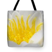 White Waterlily Detail Tote Bag